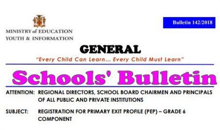 PEP General Schools' Bulletin